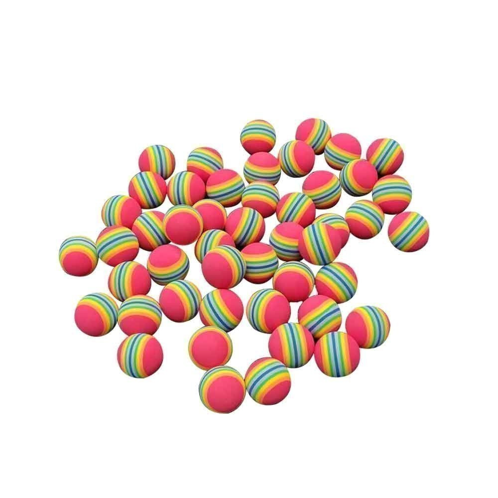 Rainbow Stripe Foam Balls