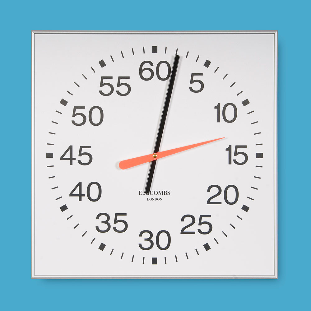 Wall Mounted Pace Clocks, 61 x 61cm (24 x 24in)