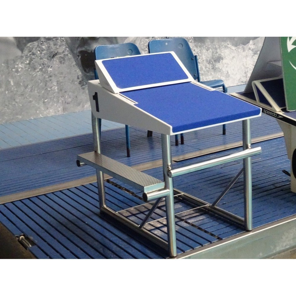 Deck Level Starting Block With Adjustable Footrest