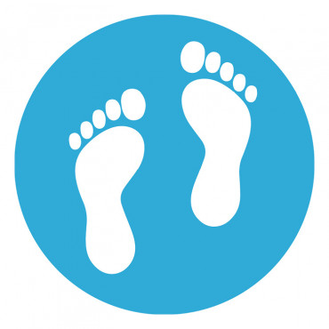 School Feet Floor Marker Blue
