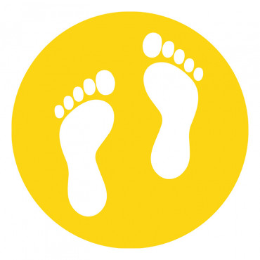 School Feet Floor Marker Yellow