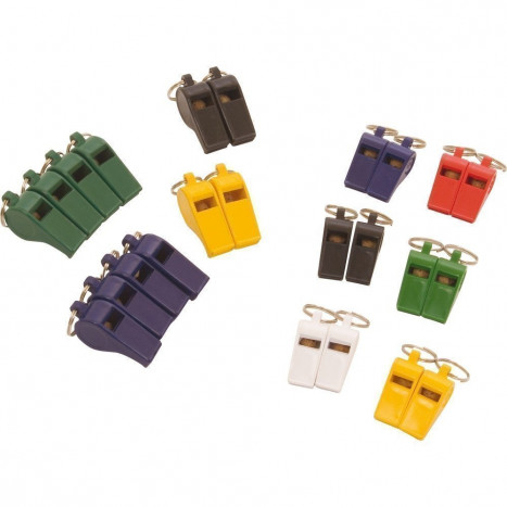 Central Coloured Whistles - Pack of 12