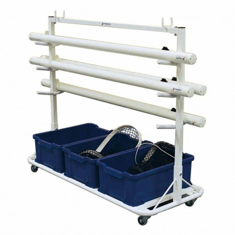 Net And Post Storage Cart