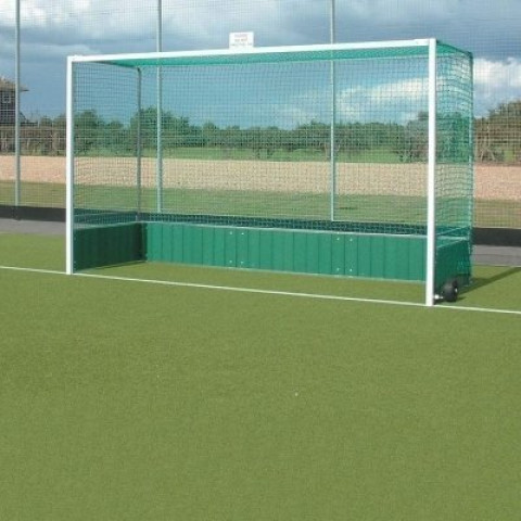 Harrod Premier Hockey Goals with PVC Backboards.