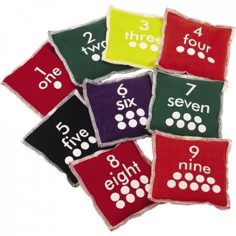 Ten Numbered Bean Bags
