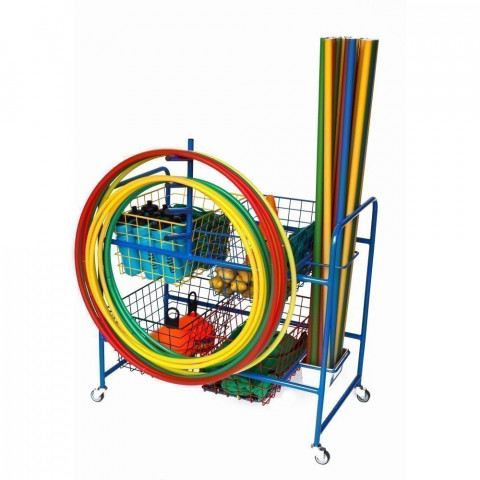 Niels Larsen Mobile Trolley With Hoop Rack