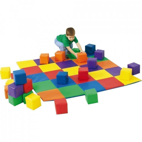 Patchwork Mat And Blocks