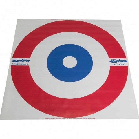 Kurling - Blue and Red Target