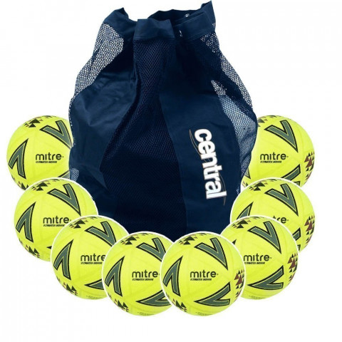 Mitre Ultimatch Indoor Football - 10 Ball Deal