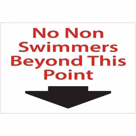 No Non Swimmers Signs