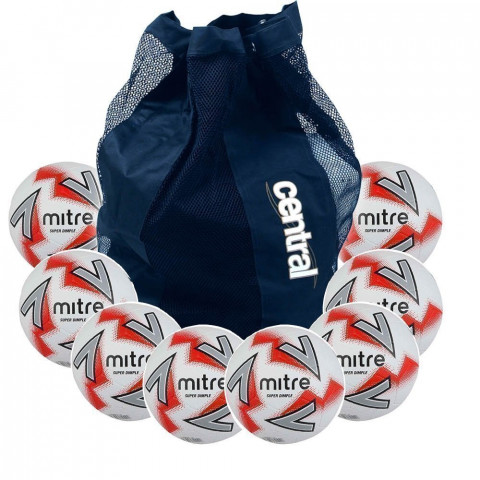 Mitre Super Dimple Football - 10 Ball Deal