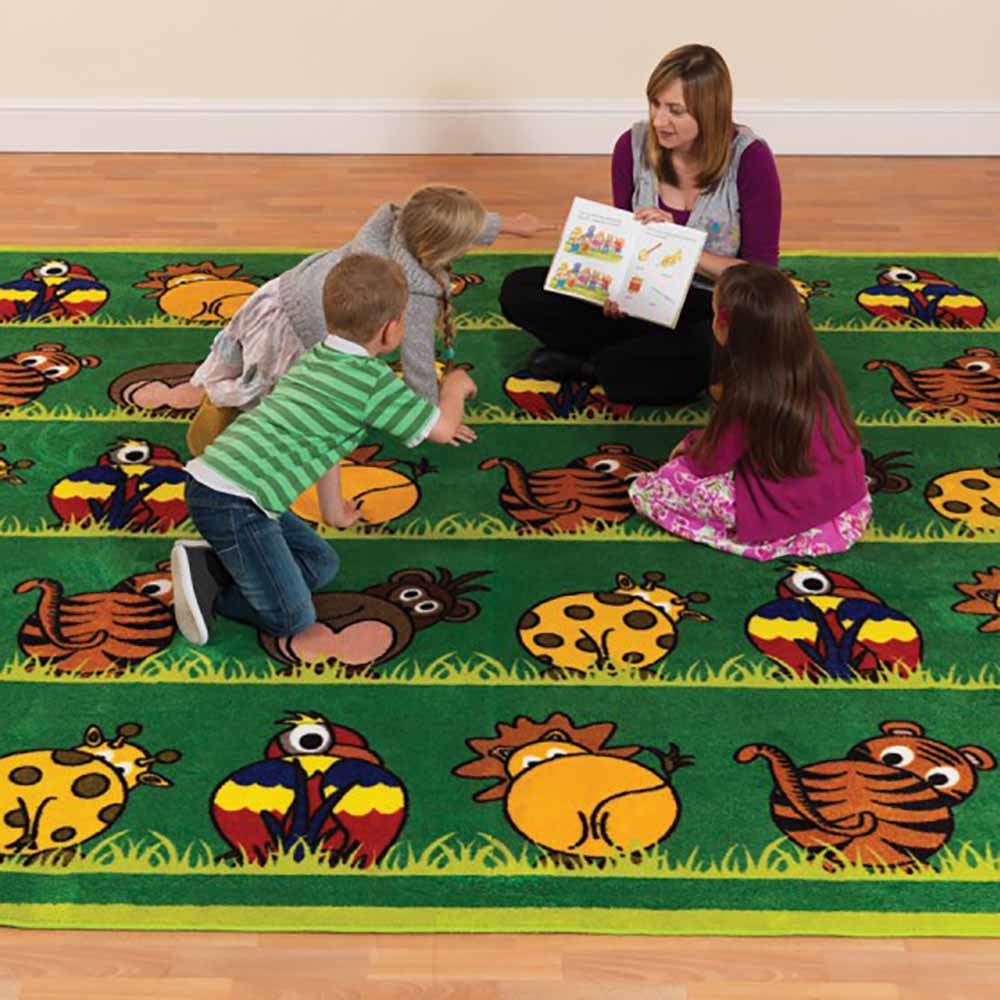 Town and Country Zoo Animals Square Carpet