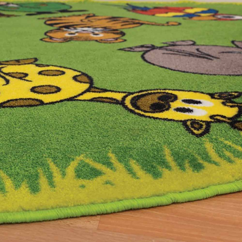 Town And Country Zoo Animals Corner Carpet